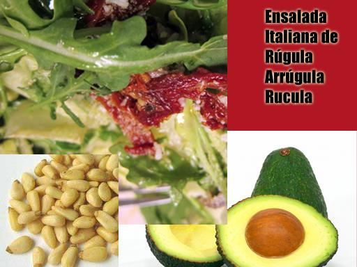 Ensalada italiana de Rúgula | Receta Con Ensaladas