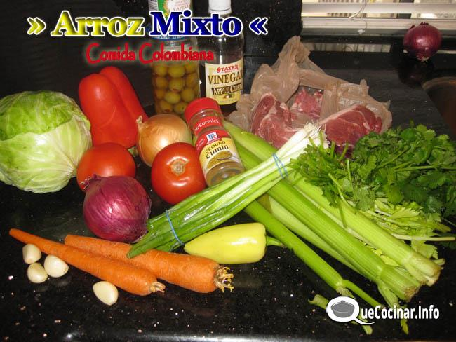 Arroz mixto recetas de comida colombiana for Ingredientes para comida