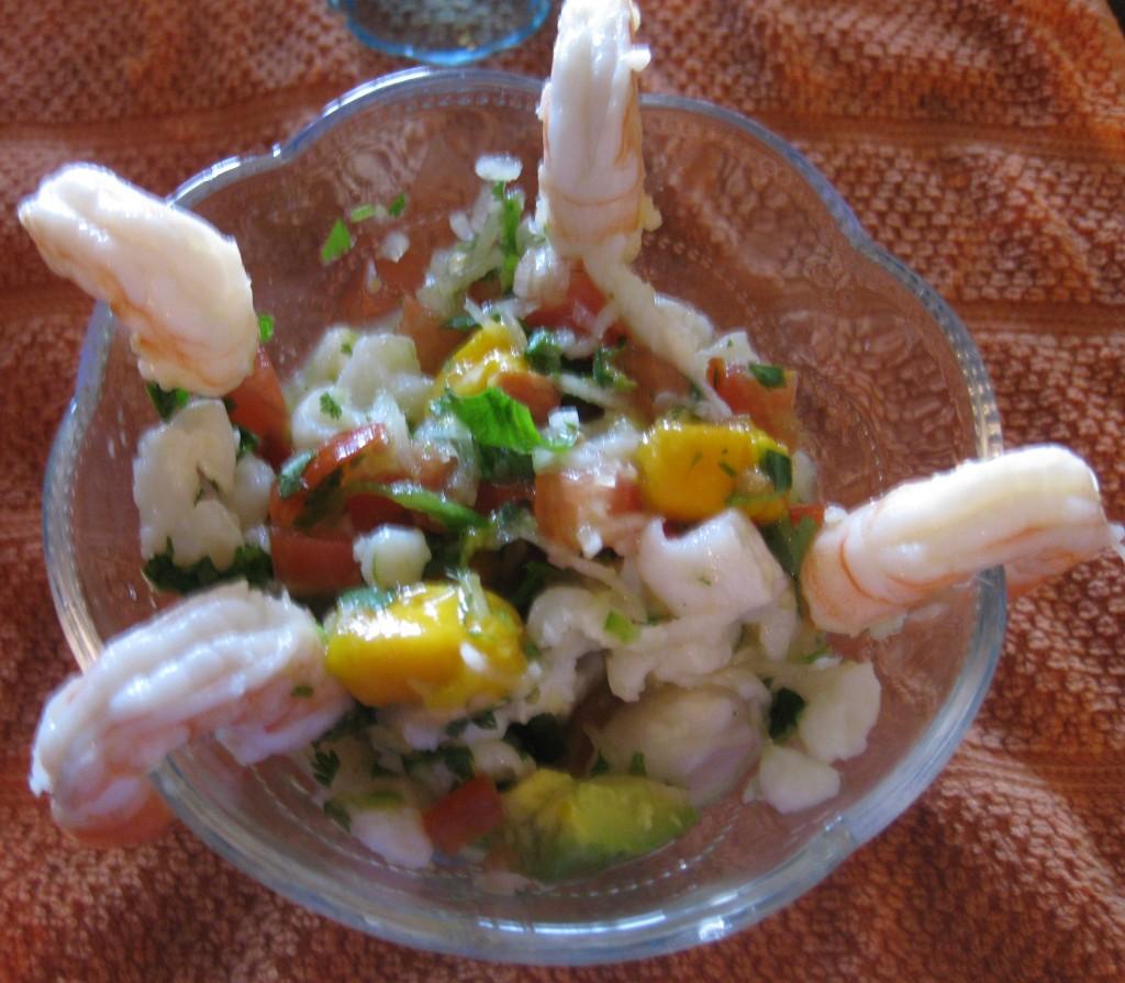 Ceviche de pescado y mango receta de ceviche for Cocinar con mango