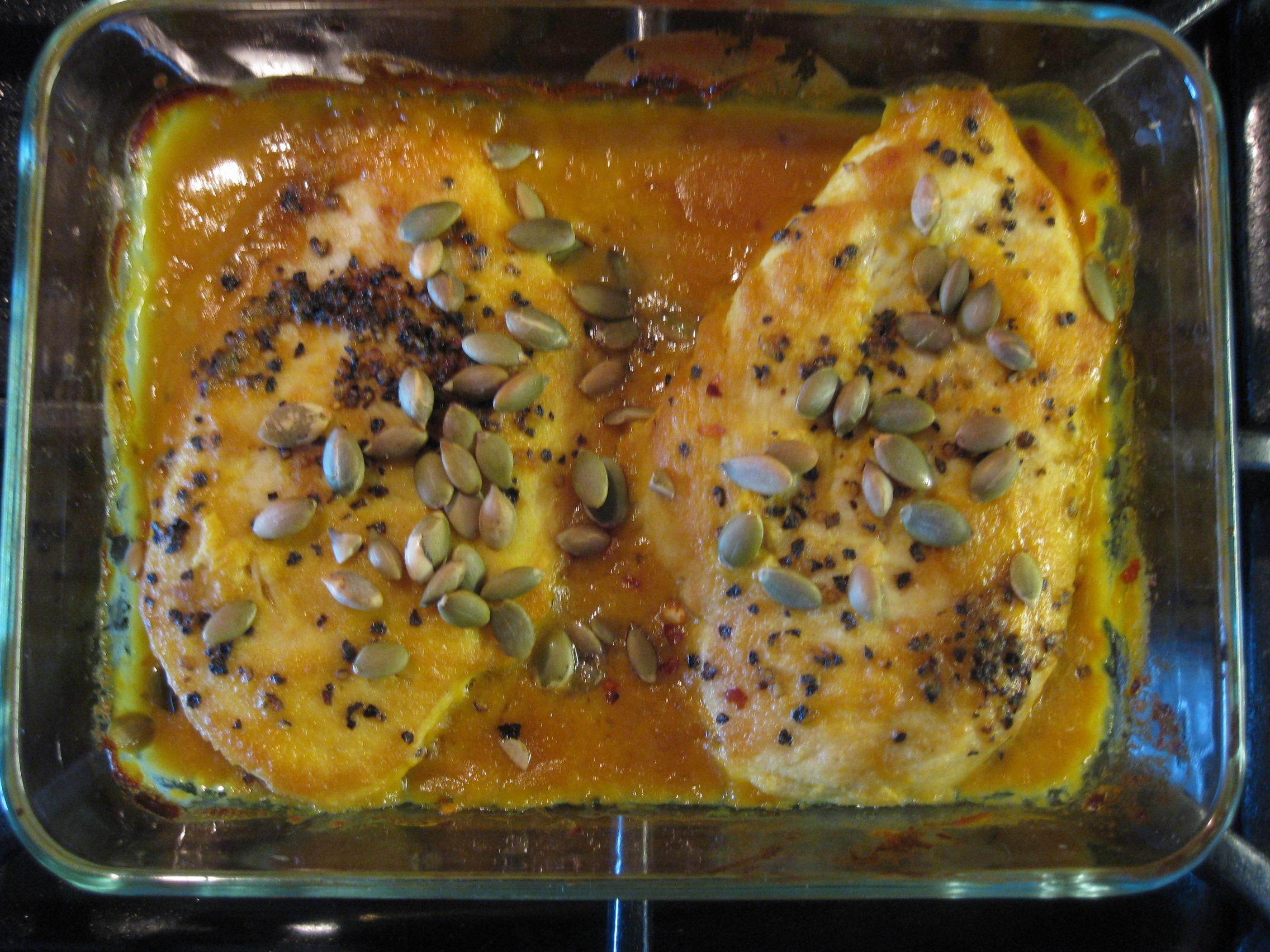 receta de pollo con mostaza y miel