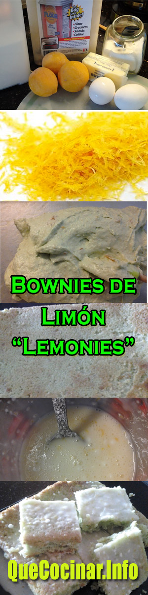Brownies-de-limon Lemonies - Brownies de Limón