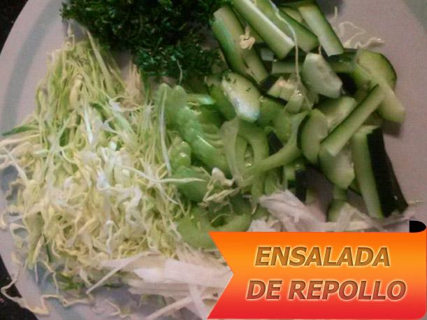Ensalada de repollo recetas con ensaladas for Como preparar repollo