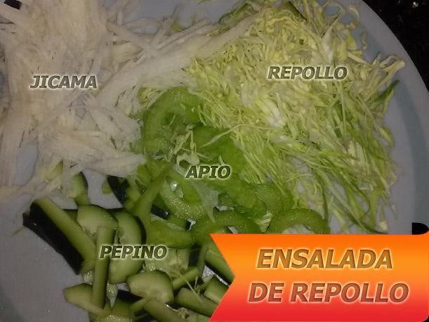 Ensalada-De-Repollo-ingredientes Ensalada de Repollo | Recetas Con Ensaladas