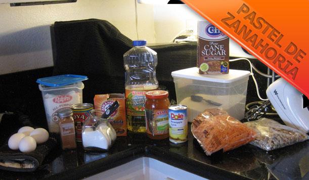 Pastel-de-Zanahoria-Ingredientes Pastel de Zanahoria | Recetas de Postres Fáciles