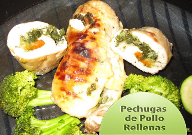 Pechugas-de-pollo-rellenas Pechugas de Pollo Rellenas | Recetas Pollo