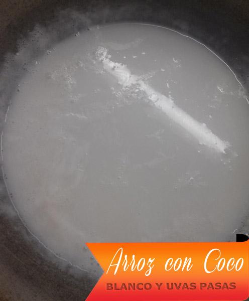 Arroz-Con-Coco-Blanco-2 Arroz Con Coco Blanco Y Uvas Pasas | Arroz con Coco Hervido Y Uvas Pasas