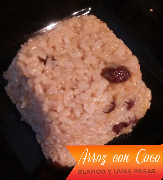 Arroz Con Coco Blanco Y Uvas Pasas | Arroz con Coco Hervido Y Uvas Pasas
