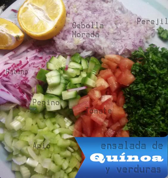 Ensalada de qu noa y verduras f cil r pida y saludable ensalada de quinua - Cocinar quinoa con verduras ...