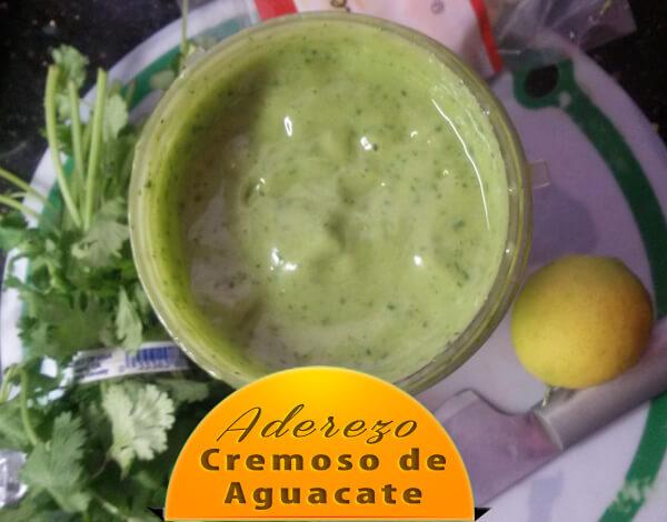 """Aderezo-Cremoso-de-Aguacate-2 Aderezo de Aguacate Para Ensalada sin """"Aceite"""""""