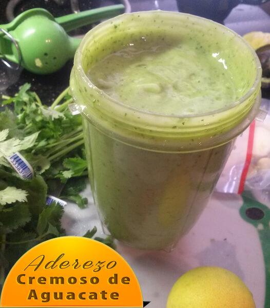 """Aderezo-Cremoso-de-Aguacate Aderezo de Aguacate Para Ensalada sin """"Aceite"""""""