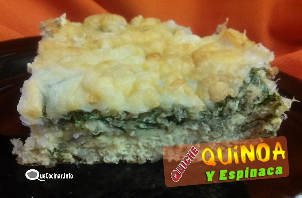 Quiche-de-Quinoa-y-Espinaca Quiche de Quínoa y Espinaca