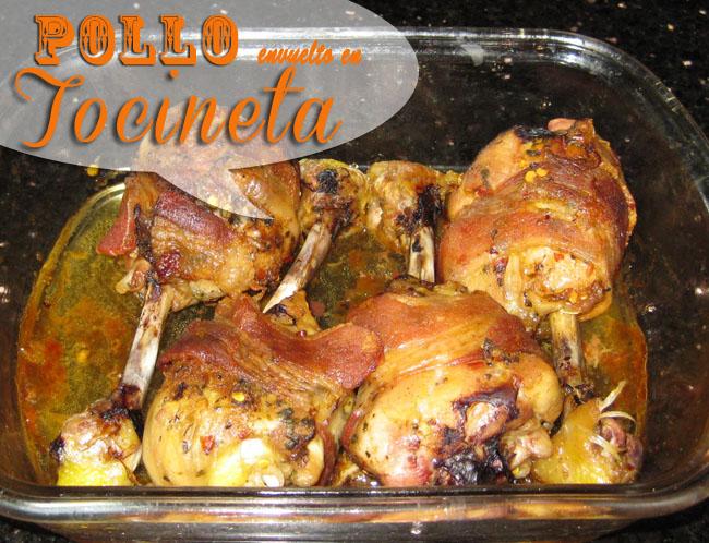 Receta de Pollo Envueltos En Tocineta