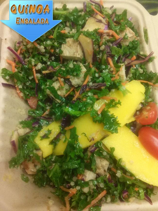 Ensalada de Quínoa, Col Rizada, Repollo y Mango | Recetas De Ensaladas