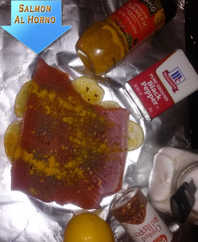 Salmon-Al-Horno-Con-Salsa-1 Salmon Al Horno Con Salsa Cremosa De Cítricos Y Jengibre