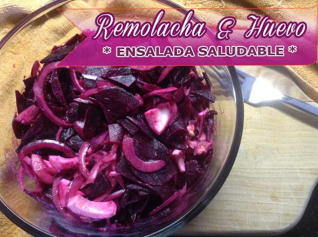 Ensalada-de-Remolacha-y-Huevo-5 Ensalada de Remolacha y Huevo | Recetas Con Ensaladas