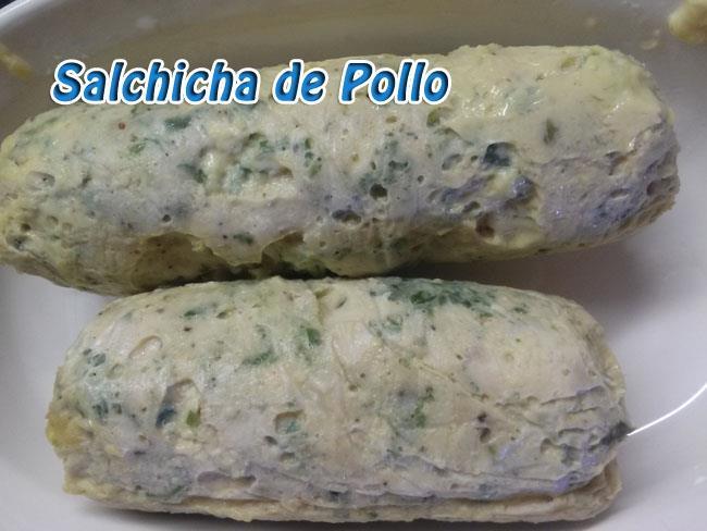 Salchicha-de-pollo-2 Salchicha de Pollo Casera   Que Cocinar con Pollo