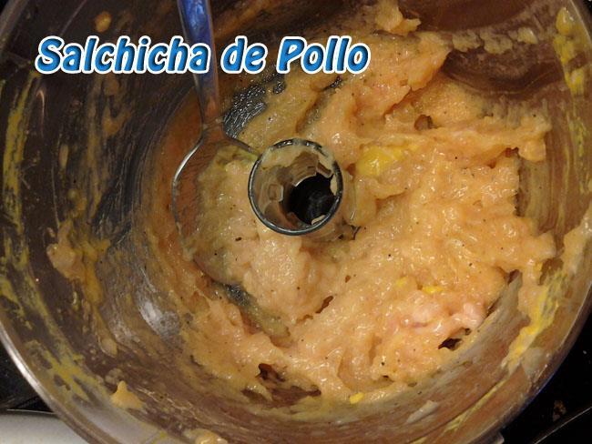 Salchichas-de-Pollo-2 Salchicha de Pollo Casera   Que Cocinar con Pollo
