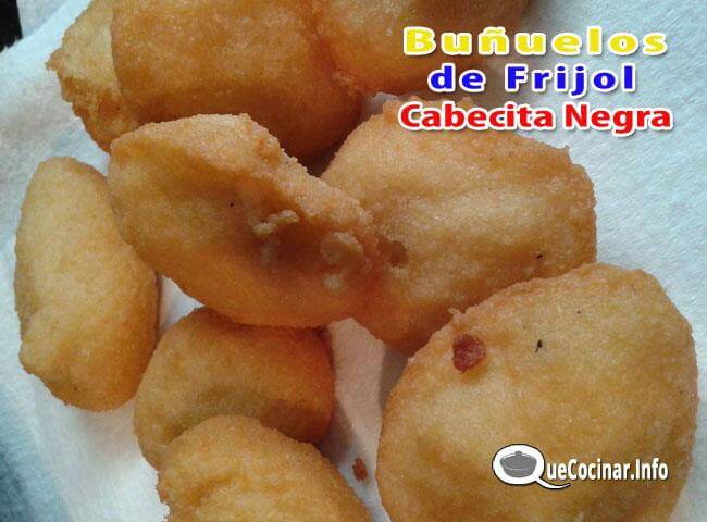 bu%C3%B1uelos-de-Frijol-de-Cabecita-Negra-3 Receta de Buñuelos de Frijol de Cabecita Negra