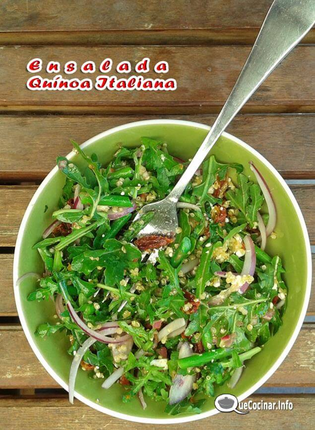 ensalada-de-qu%C3%ADnoa-italiana-8 Ensalada de Quínoa Italiana | Receta Con Ensalada