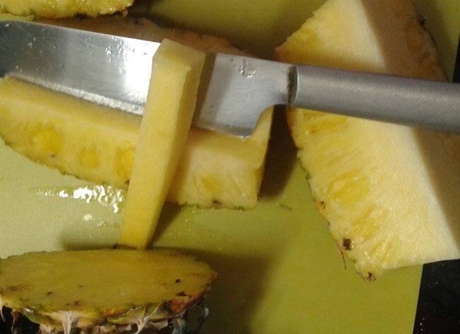 cortar-la-piña-9 Cómo Partir La Piña | Pasos Con Fotos Para Cortar Piña