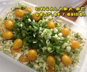 Ensalada de Coliflor y Quínoa | Recetas Con Ensaladas