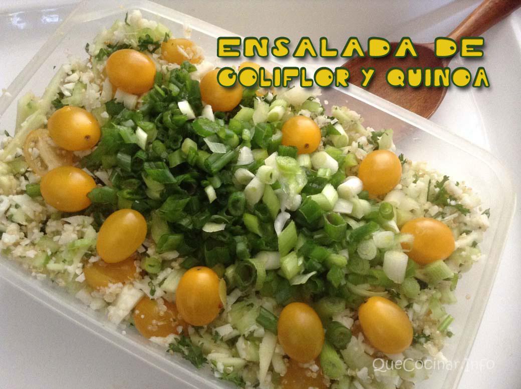 Ensalada de coliflor y qu noa recetas con ensaladas for Cocinar 1 taza de quinoa
