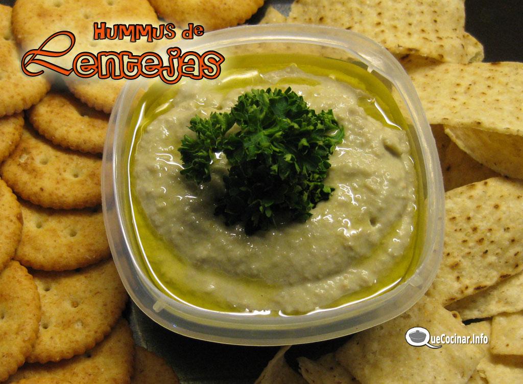 Cocinar Lentejas.Hummus De Lentejas Pate De Lentejas