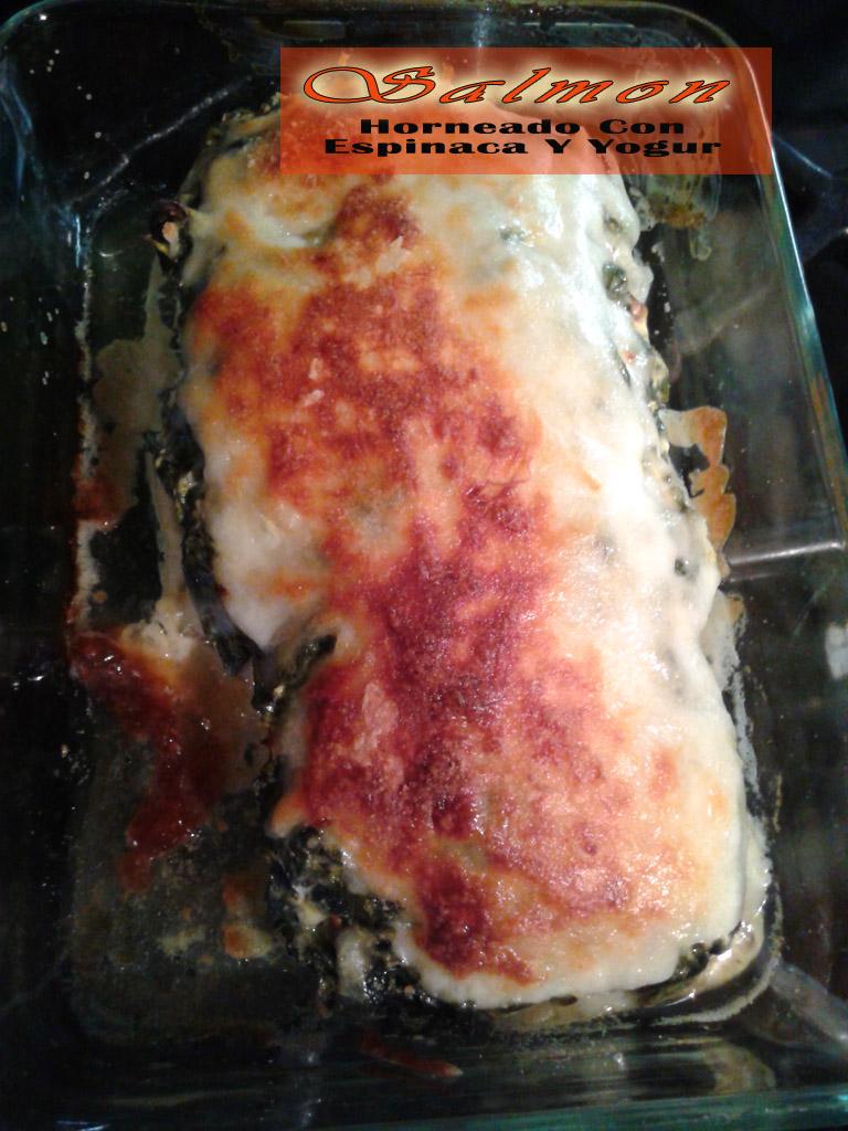 Salmon-horneado-con-espinaca-y-yogur3 Salmon Horneado Con Espinaca Y Yogur