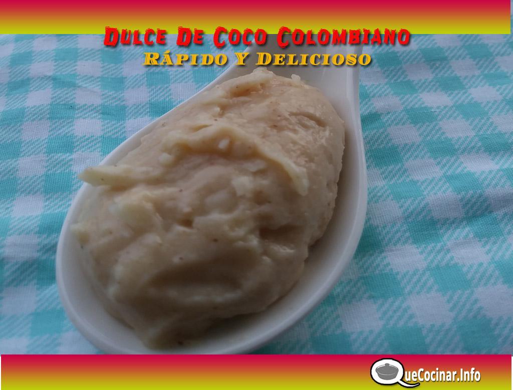 Dulce-de-coco-paso-a-paso-cuchara Dulce De Coco Colombiano Rápido Y Delicioso