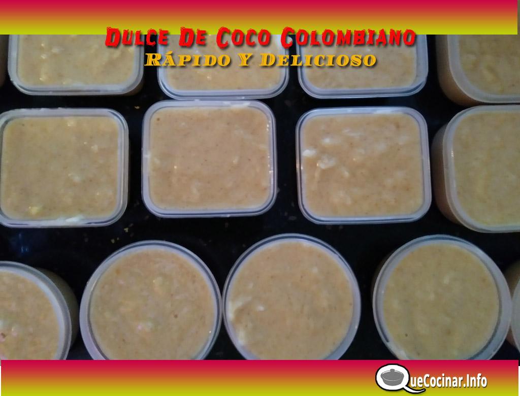 Dulce-de-coco-paso-a-paso-moldes Dulce De Coco Colombiano Rápido Y Delicioso