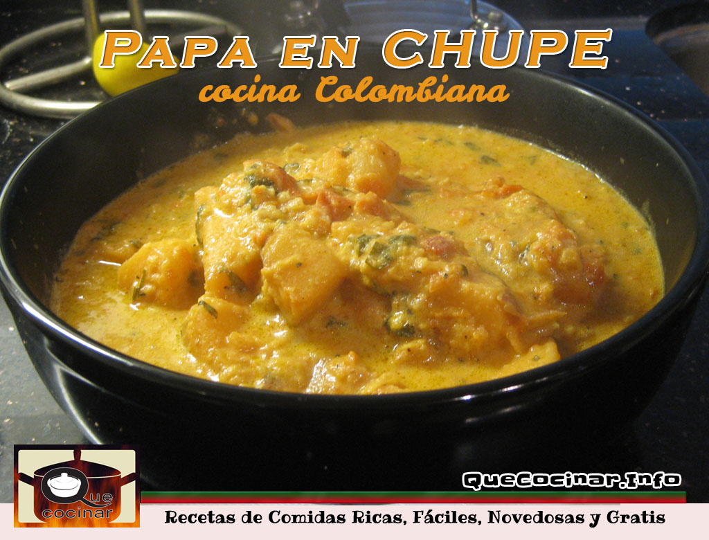 Papa en chupe receta colombiana for Ingredientes para cocinar
