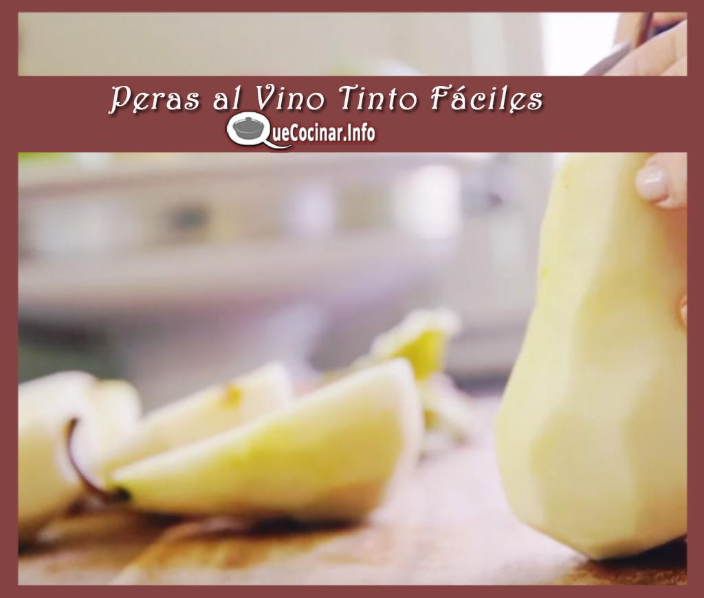 Peras-al-Vino-Tinto-Faciles-pelar Peras al Vino Tinto Fáciles | Que Cocinar