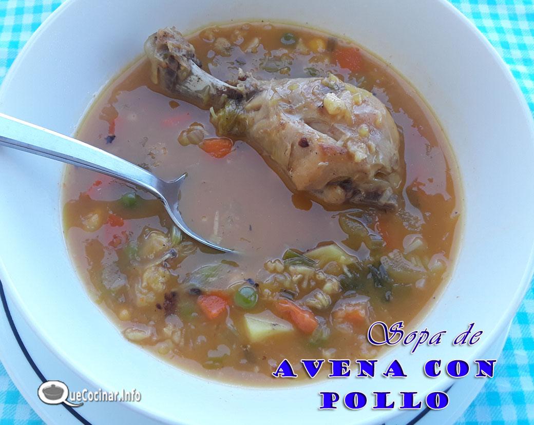 Sopa De Avena Con Pollo | Receta Colombiana