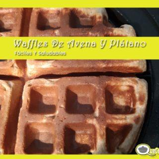 Waffles-De-Avena-Y-Platano-cocinando-320x321 Waffles De Avena Y Plátano Fáciles Y Saludables