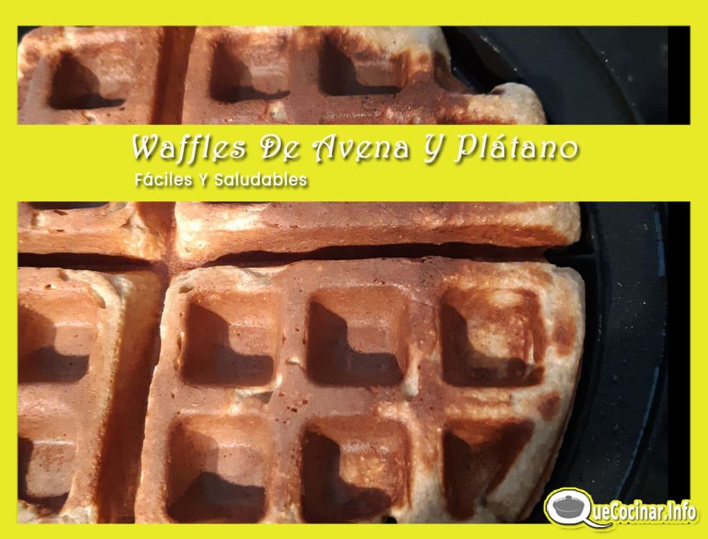 Waffles-De-Avena-Y-Platano-cocinando Waffles De Avena Y Plátano Fáciles Y Saludables
